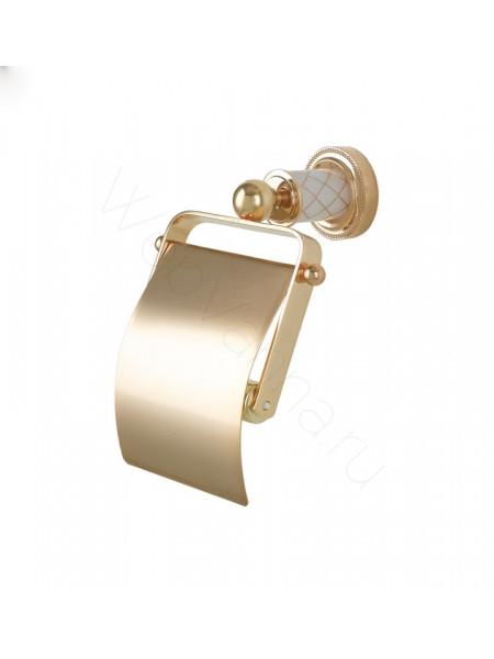 Держатель для туалетной бумаги с крышкой Boheme Murano золото