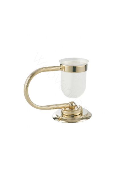 Настольный стакан для зубных щеток Boheme Murano золото