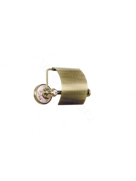 Держатель для туалетной бумаги с крышкой Boheme Provanse бронза