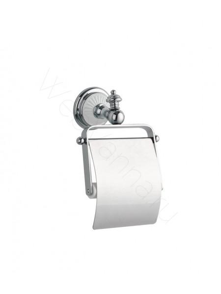 Держатель для туалетной бумаги с крышкой Boheme Vogue хром