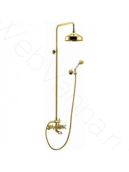Душевая стойка Cezares Retro RETRO-CVD1-03, золото, с изливом