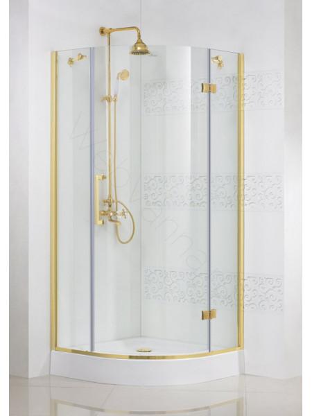 Душевой угол Cezares MAGIC 100x100 R-1 GOLD L/R