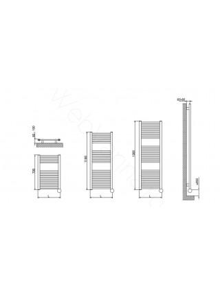 Полотенцесушитель Cordivari Lisa 22 ELECTRIC 1160x450