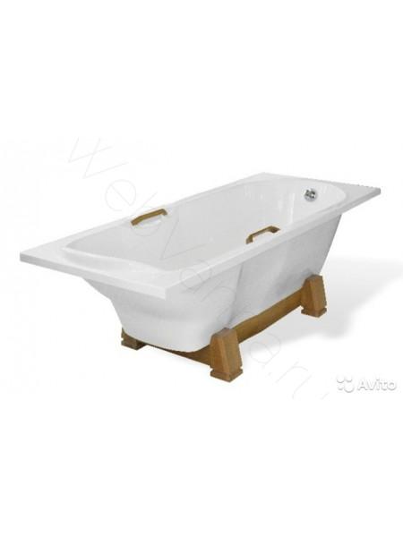 Ванна Эстет Камелия 180х75 на деревянной подставке