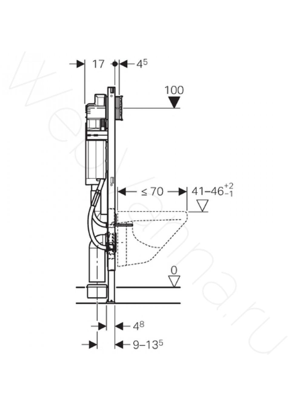 Geberit 127000111 R/éservoir WC Blanc