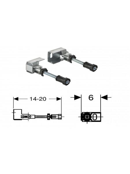 Комплект крепления к стене Geberit Duofix 111.835.00.1, при угловом монтаже