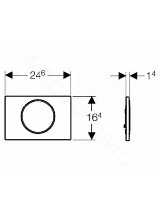 Смывная клавиша Geberit Sigma 10, 115.758.KH.5, хром глянец/матовая