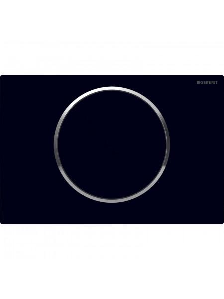 Смывная клавиша Geberit Sigma 10, 115.758.KM.5, черная/хром глянец