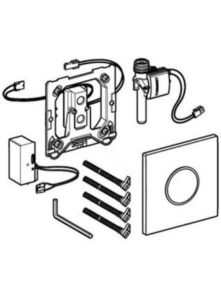 Привод смыва для писсуара Geberit HyTronic, 116.023.FW.1, бесконтактный,нерж.сталь