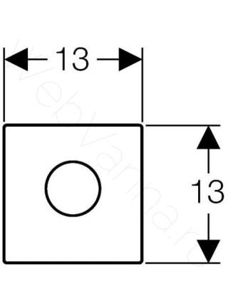 Привод смыва для писсуара Geberit Sigma 01, 116.021.21.5, бесконтактный, хром