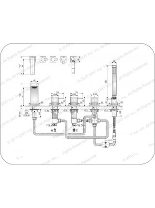 Смеситель на борт ванны Gnt Staubbach H 87418