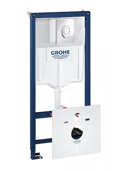 Инсталляция Grohe Rapid SL 4 в 1 в сборе, для подвесного унитаза 38750001