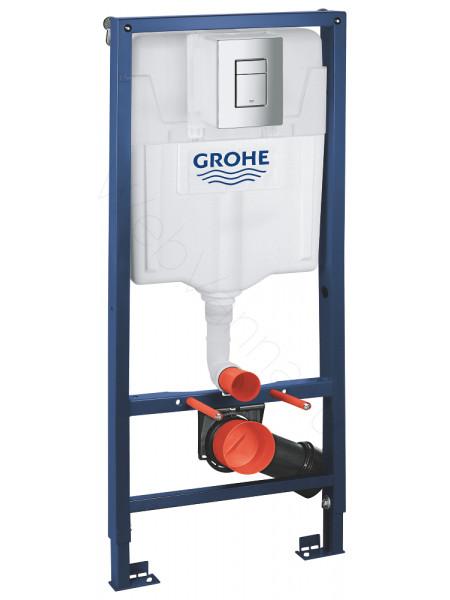 Инсталляция Grohe Rapid SL 3 в 1 в сборе, для подвесного унитаза 38772001