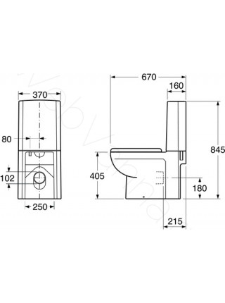 Унитаз-компакт Gustavsberg ARTic 4310 GB114310301737