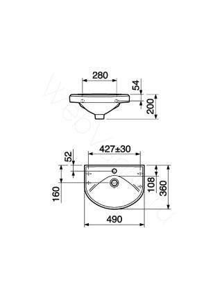 Раковина подвесная Gustavsberg Basic 590-3 GB1059056101