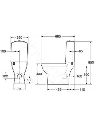 Унитаз-компакт Gustavsberg Logic 5695 GB115695301707 без сидения