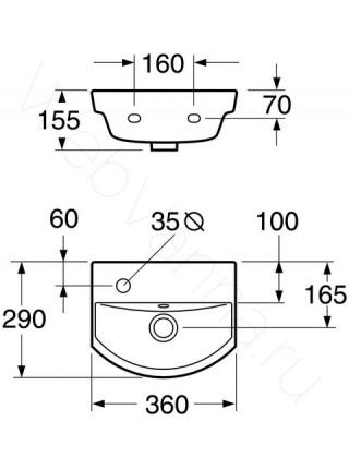 Раковина подвесная Gustavsberg Logic 5393L левая