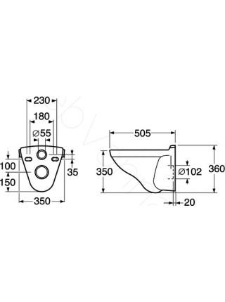 Унитаз подвесной Gustavsberg Logic 5693 56935501 без сидения