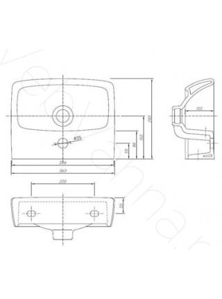 Раковина подвесная Ifo Special RP710113600 360 мм