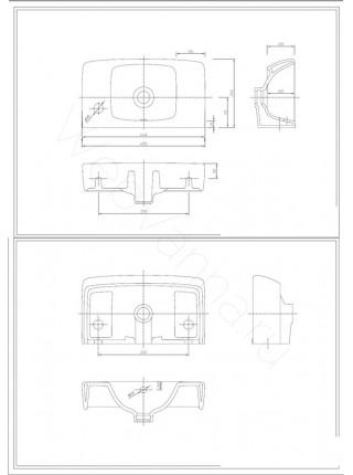 Раковина подвесная Ifo Special RP710114510 450 мм