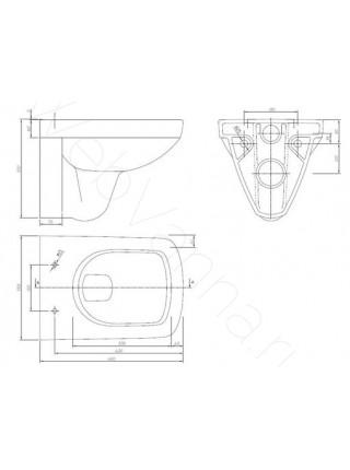 Унитаз подвесной Ifo Special RP731200100 укороченный