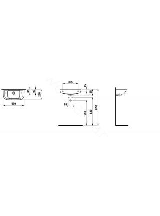 Раковина-мини Laufen PRO 816957 левая