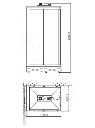 Душевая кабина Orans SR-86152A R 110х80