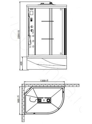 Душевая кабина Orans SR-86155 L 130х90