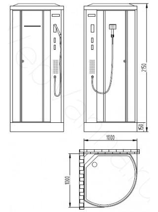 Душевая кабина Orans SR-86173A 100х100