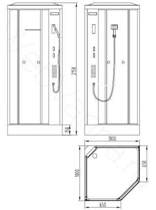 Душевая кабина Orans SR-86172A 100х100