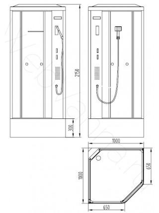 Душевая кабина Orans SR-86172 100х100