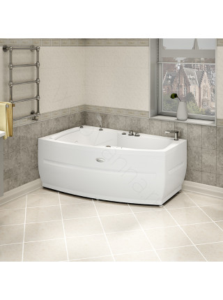 Акриловая ванна Radomir Аризона 170х100 левая, каркас, подголовник