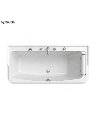 Акриловая ванна Radomir Винченцо 180х85 левая, правая, каркас, подголовник