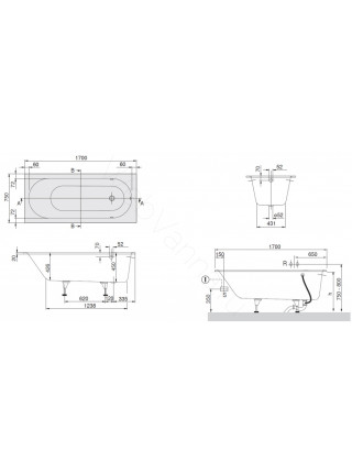 Квариловая ванна Villeroy&Boch Oberon 170x75