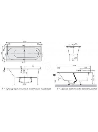 Квариловая ванна Villeroy&Boch Oberon 190x90