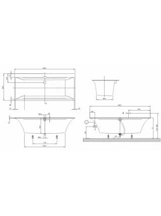 Квариловая ванна Villeroy&Boch Squaro Edge 12 180x80