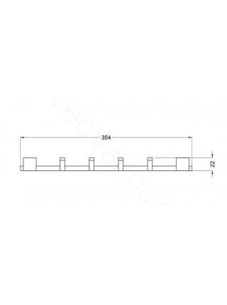 Набор крючков Zeegres Z.Cub, 21118001, хром