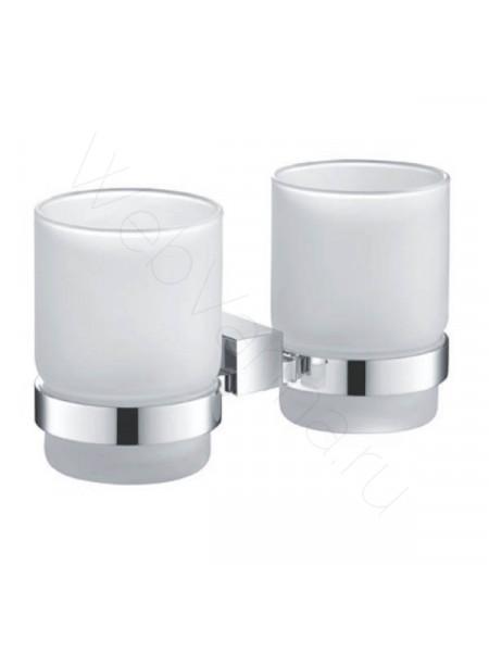 Двойной стакан для зубных щеток Zeegres Z.Cub, 21119101, хром