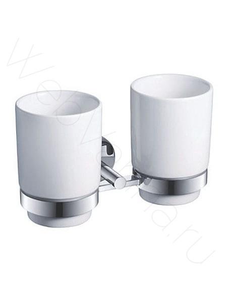 Двойной стакан для зубных щёток Zeegres Z.Fano, 25119201, хром