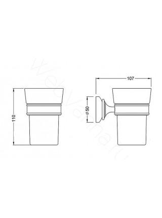 Стакан для зубных щёток Zeegres Z.Asti, 23102201, хром