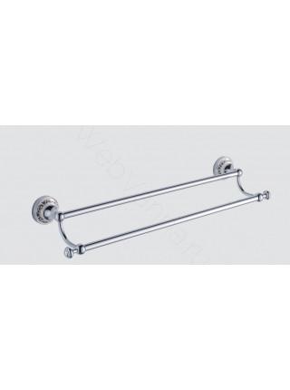 Двойной держатель для полотенца Zeegres Z.Class, 27100301, 60 см, хром