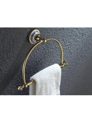 Держатель кольцевой для полотенца Zeegres Z.Class, 27105302, золото